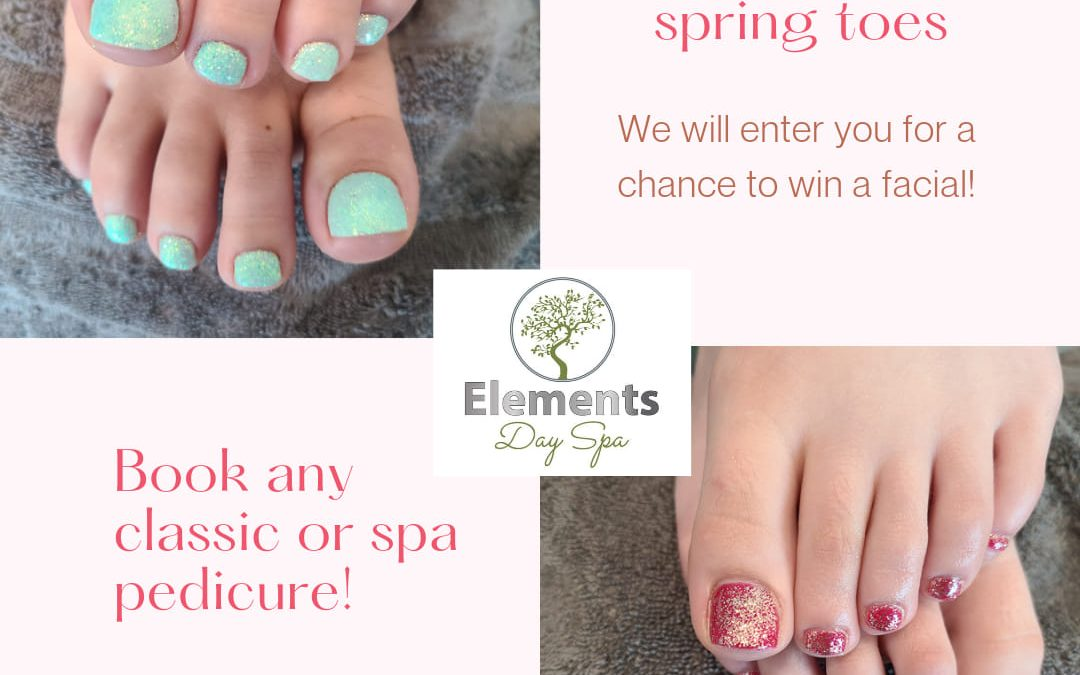 Book Your Spring Toes April 22 to May 10th, 2021